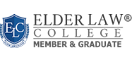 Elder Law College member and graduate badge